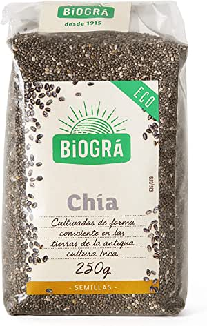 Biográ - Semillas de Chía Crudas 100% Natural (250 g): Amazon.es: Alimentación y bebidas