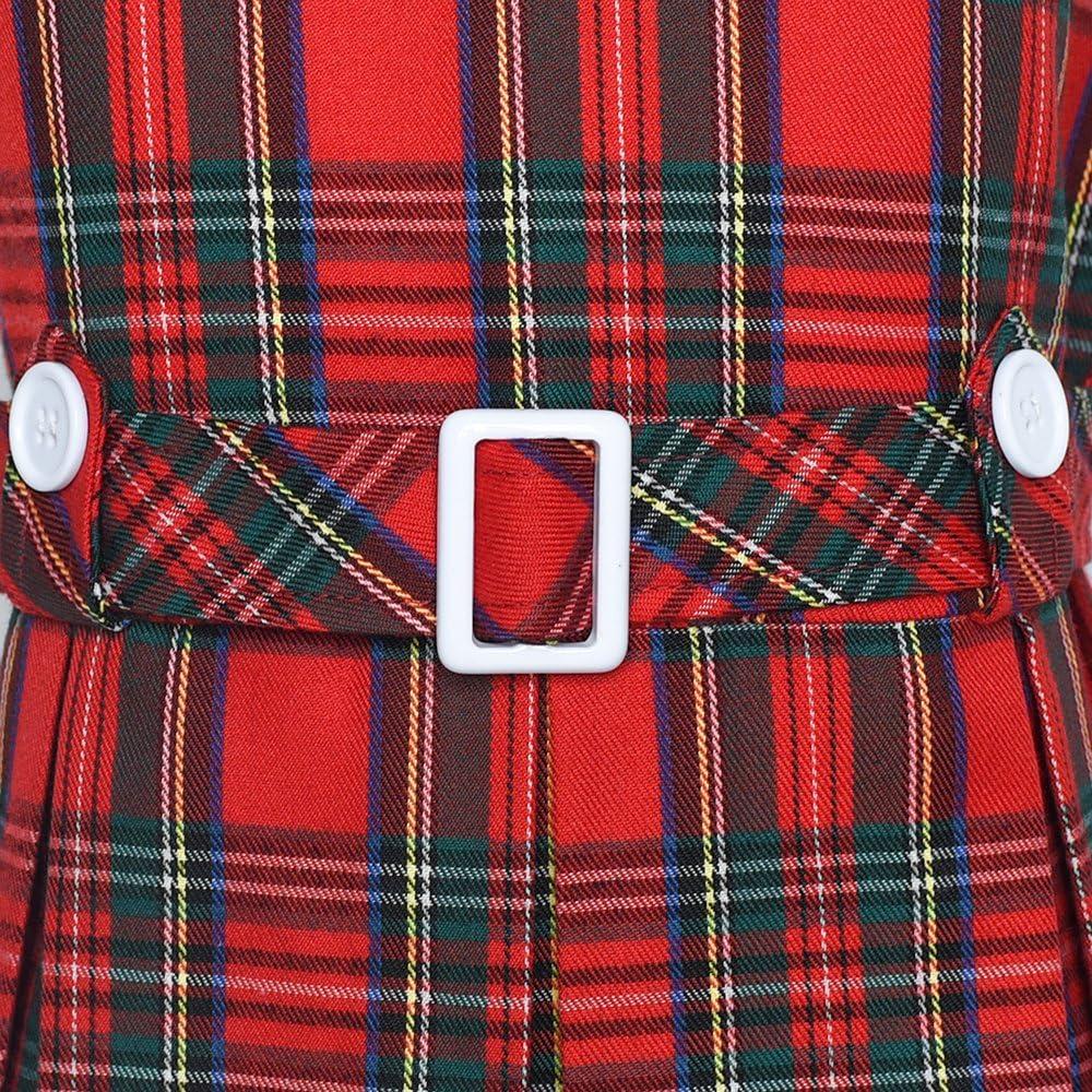 Sunny Fashion Girls Dress Khaki Button Back School Pleated Hem Size 6-14