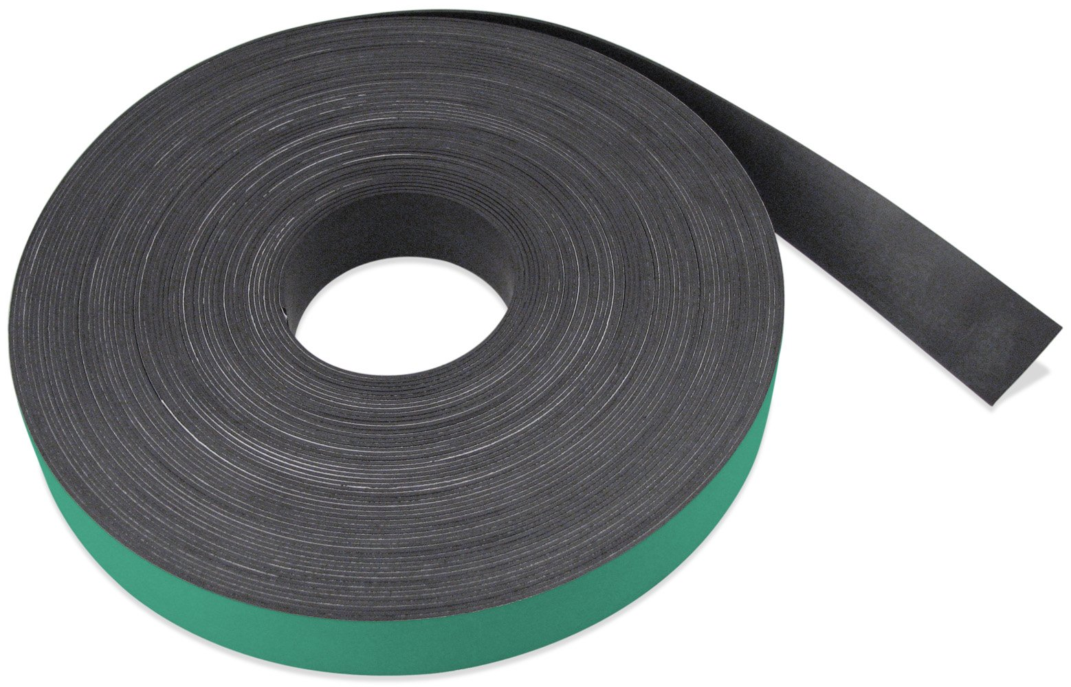 Flexible Magnet Strip with Green Vinyl Coating, 1/32'' Thick, 3'' Height, 50 Feet, 1 Roll