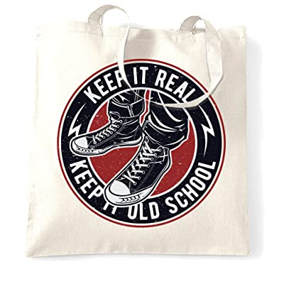 Cool Tote Bag Keep It Real Keep It Old School Cool Slogan Classic Shoes