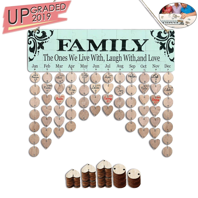 [宅送] YuQi DIY ジグソーパズル ファミリーリマインダーカレンダー ブランク木製ファミリーバースデーボード B07MZNGRF9 YuQi ラウンドとハートのディスクサインタグ付き 木製壁掛けリマインダー飾り板 彼女へのギフトや家の装飾に B07MZNGRF9, ハンドメイドケースデパート:e62bba01 --- a0267596.xsph.ru