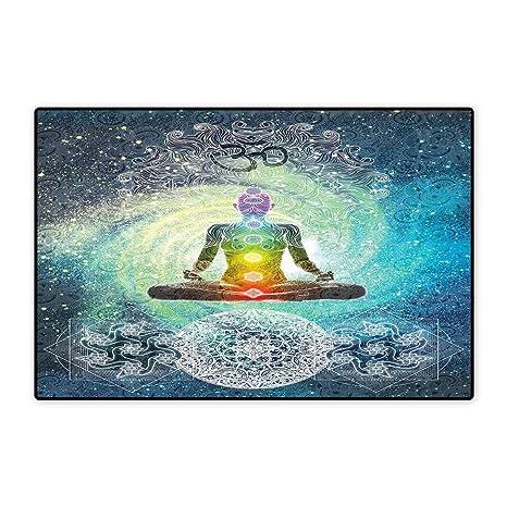 Amazon.com: Alfombra pequeña para yoga, diseño de festival ...