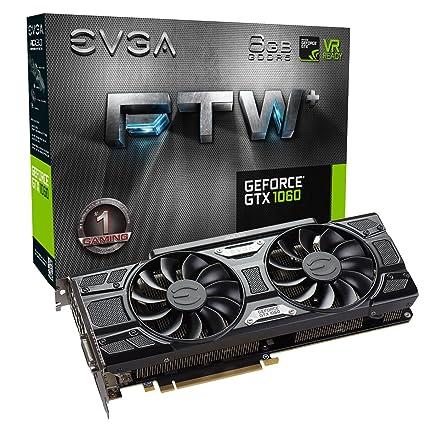 EVGA GeForce GTX 1060 FTW+ Gaming ACX 3.0 6 GB GDDR5 - Tarjeta gráfica (GeForce GTX 1060, 6 GB, GDDR5, 192 bit, 7680 x 4320 Pixeles, PCI 3.0)