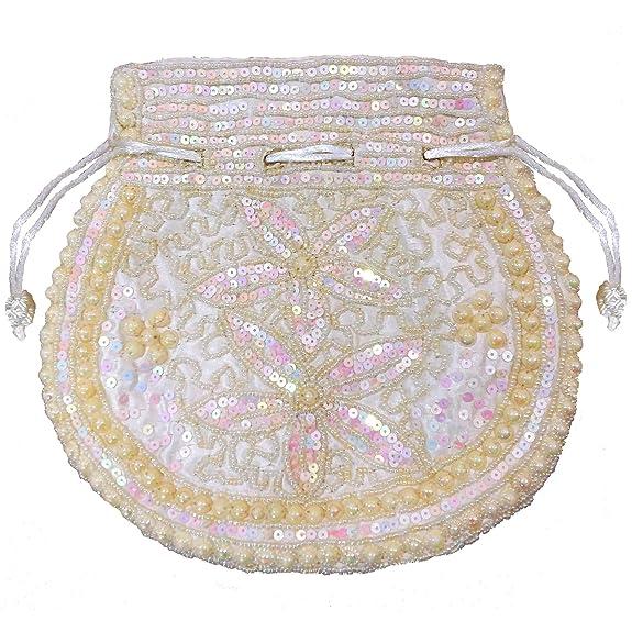 Vintage & Retro Handbags, Purses, Wallets, Bags Wedding Women Purse Party Designer Bridal Clutch / Jewelry Pouch / Indian Evening Potli Handbag $9.97 AT vintagedancer.com
