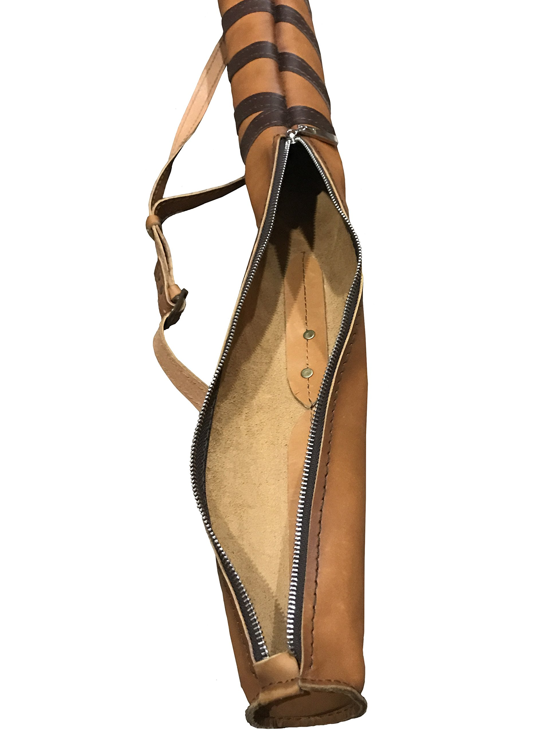 "Custom Baseball Bat Leather Sleeve Case with Adjustable Shoulder Strap is 100% Handmade by ""Nerruma"". Carrying Bag for baseball bat. Limited Edition. by Nerruma (Image #3)"