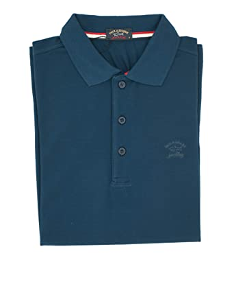 PAUL & SHARK Polo, Informal, Regular, algodón Turquesa 4XL: Amazon ...