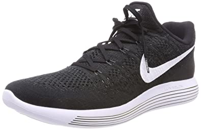 NIKE Men Lunarepic Low Flyknit 2 Running Shoe, Size 6, Black/White-