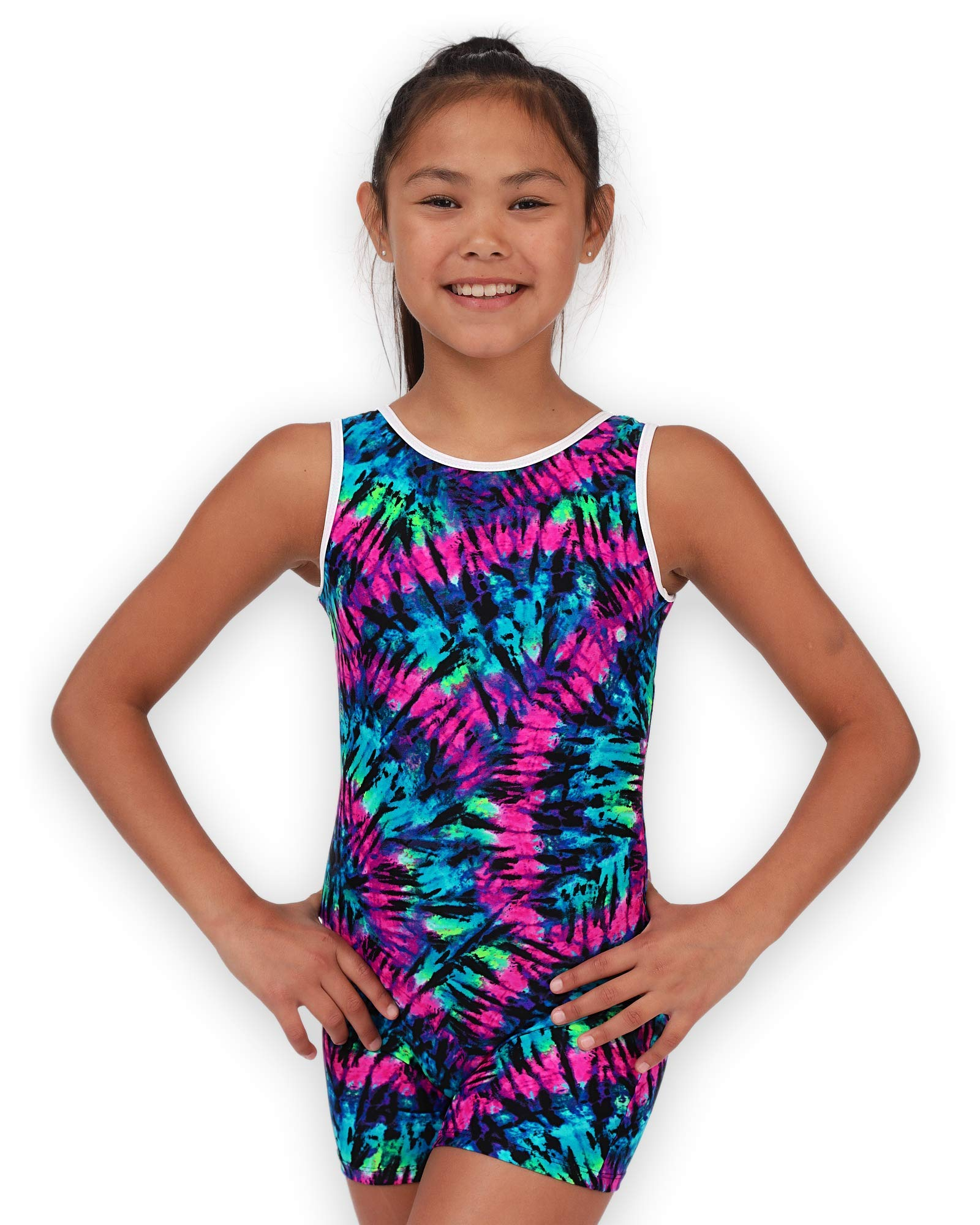 Pelle Gymnastics Biketard/Unitard - Purple Tie-Dye - C Medium