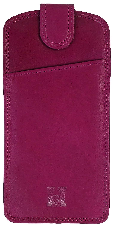 /Étui /à lunettes en cuir fin de qualit/é pochette avec languette de fermeture Noir//rouge//violet//rose//turquoise
