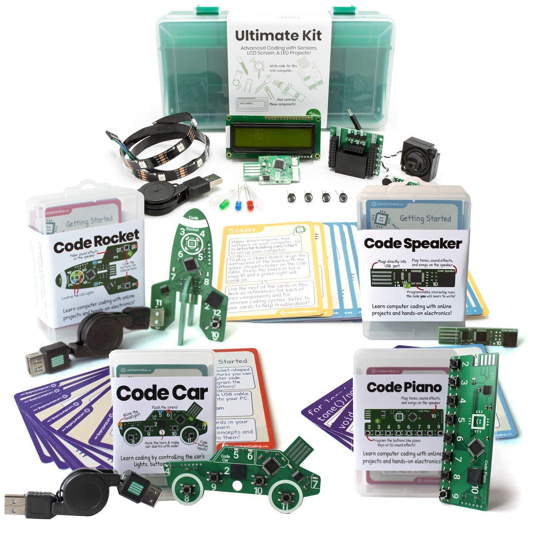 Bundle: Ultimate Kit + Car + Rocket + Piano + Speaker | Coding Kits for Kids 8-13 | Bundle and Save! by Let's Start Coding (Image #1)