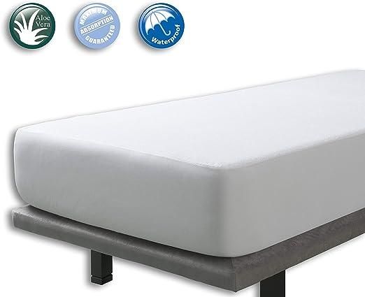 Protector Rizo impermeable para colchon de 90x190/200. Rizo ...