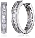 Amazon Price History for:10k Gold Channel-Set Diamond Hoop Earrings (1/3 cttw, H-I Color, I2-I3 Clarity)