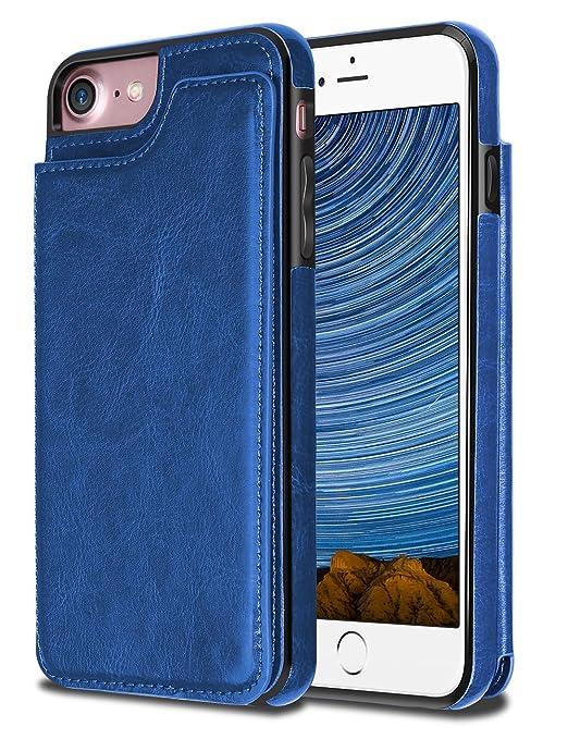 4 opinioni per iPhone 7 Cover,Coolden® Ultra Sottile Protettiva PU Cuoio Custodia in Pelle