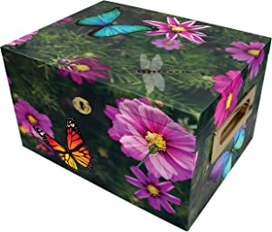 Magical Garden Cremation Urn Memorial Collection Chest with Lock and Key, Cremation Urns for Adult Ashes, Urns for Human Ashes Adult or Child