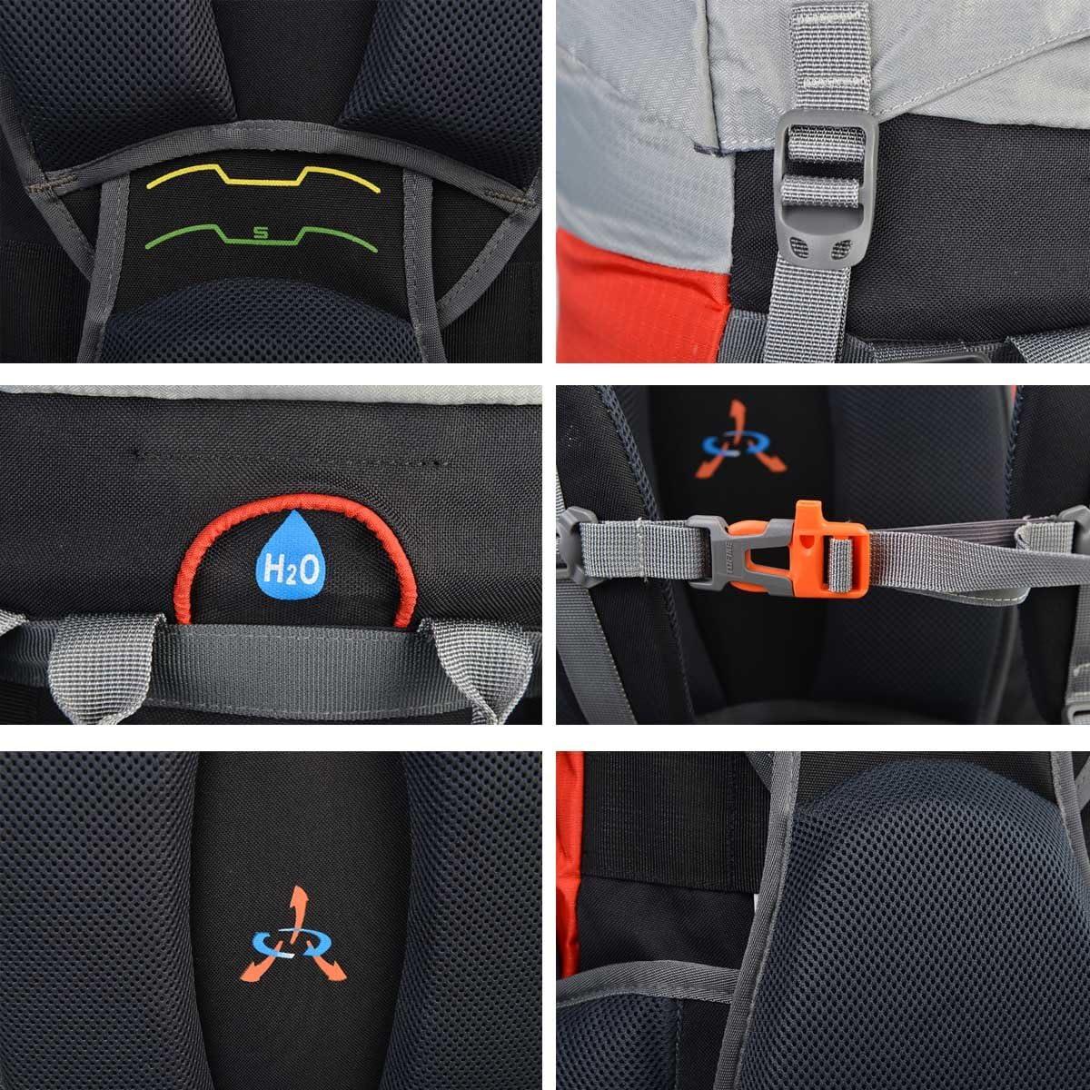 TOFINE External-Frame-Backpacks Rain Cover Waterproof Nylon 45L55L65L Hiking Camping Mountaineering Bag