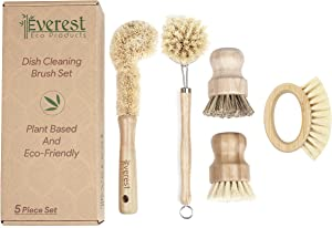 Eco Friendly Kitchen Dish Cleaning Set - Biodegradable and Highly Durable | Perfect for Zero Waste Homes | 5 Piece Set
