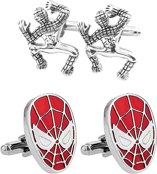 Avengers Inifinity War Spiderman Marvel Spider Super Hero Logo Cufflink Cuff