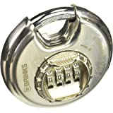 Keeper Brinks 173-80051 80mm Shielded Discus Lock with Resettable Combination