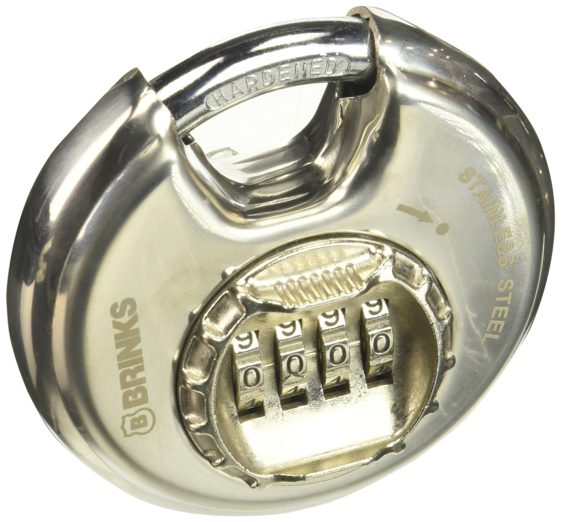BRINKS 173-80051 80mm Stainless Steel Resettable Combination Discus Padlock by BRINKS