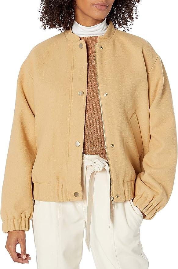 A|X Armani Exchange 阿玛尼 羊毛混纺 女式夹克外套 M码3折$74.08 海淘转运到手约¥604 国内¥1450