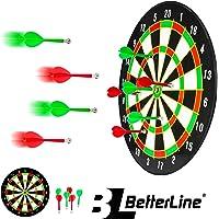 Mejor Line Juego de Dart con 40,6cm–Tablero de dardos magnético con 6dardos