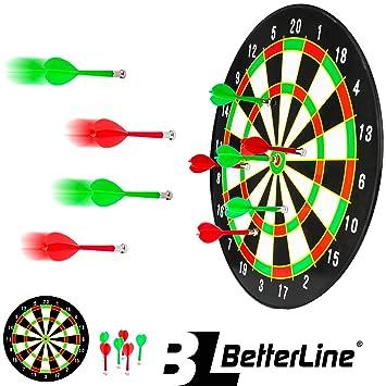 Amazon Com Betterline Magnetic Dartboard Set 16 Inch Dart Board