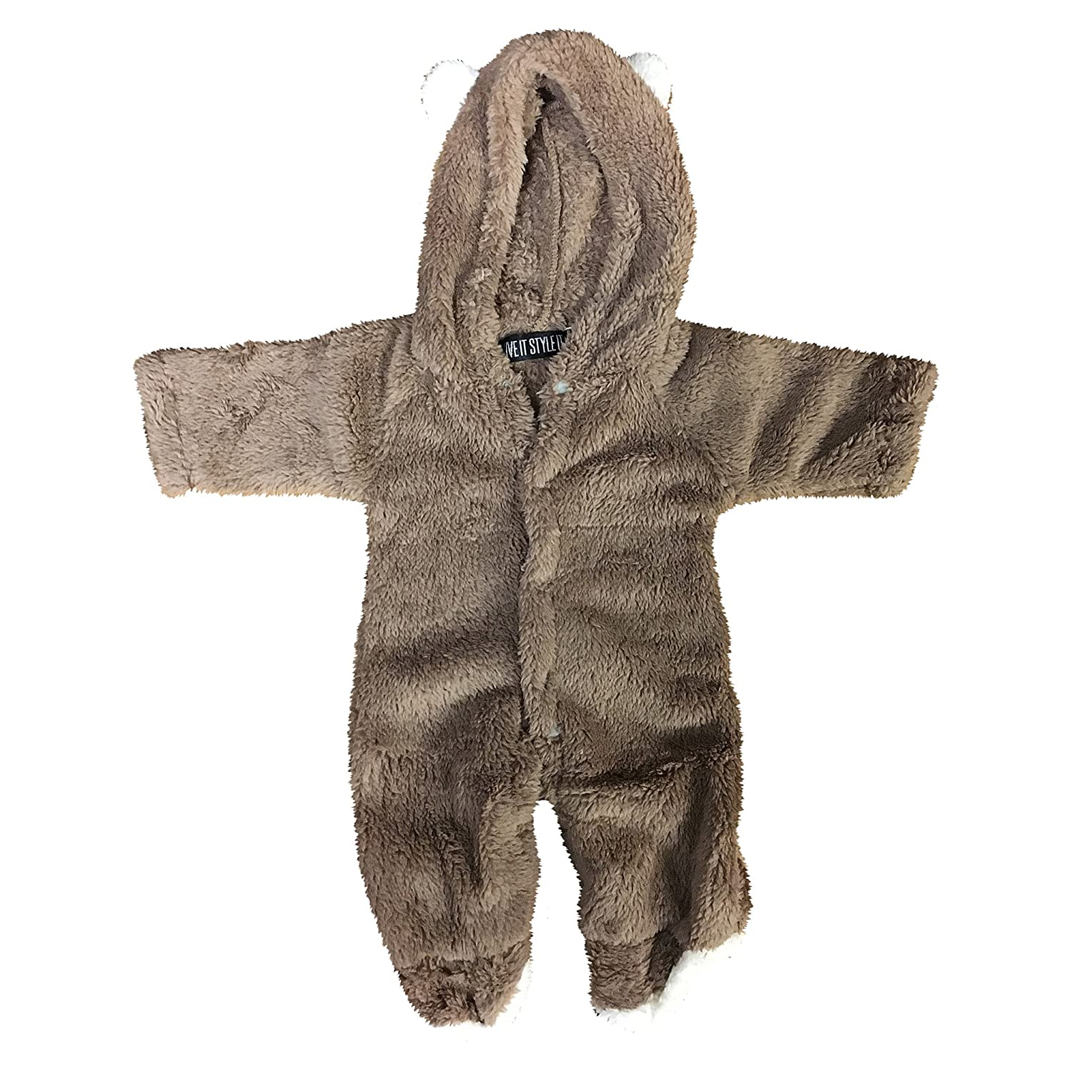 Baby Grow Newborn Infant Romper Hooded Bear Jumpsuit Boys Girls Animal 0-12 Months Winter Soft Cute Playsuit All In One