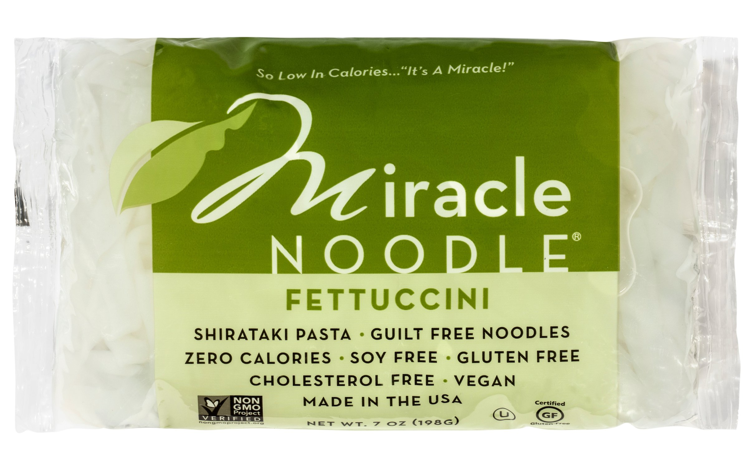Miracle Noodle Zero Carb, Gluten Free Shirataki Pasta, Fettuccini, 7-Ounce, (Pack of 6)