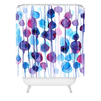 Deny Designs Cmykaren Abstract Watercolor Shower Curtain 69quot