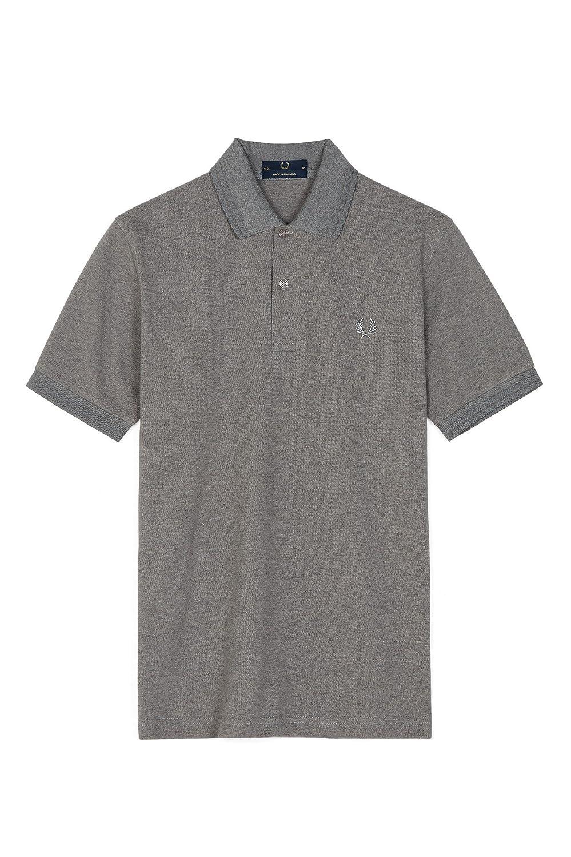 [フレッドペリー]ポロシャツ TWIN TIPPED FRED PERRY SHIRT M12N メンズ B07CVNGL8N Medium|グレー グレー Medium