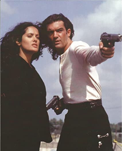 Desperado Antonio Banderas Salma Hayek Shooting Guns 8x10 Photo 004 At Amazon S Entertainment Collectibles Store