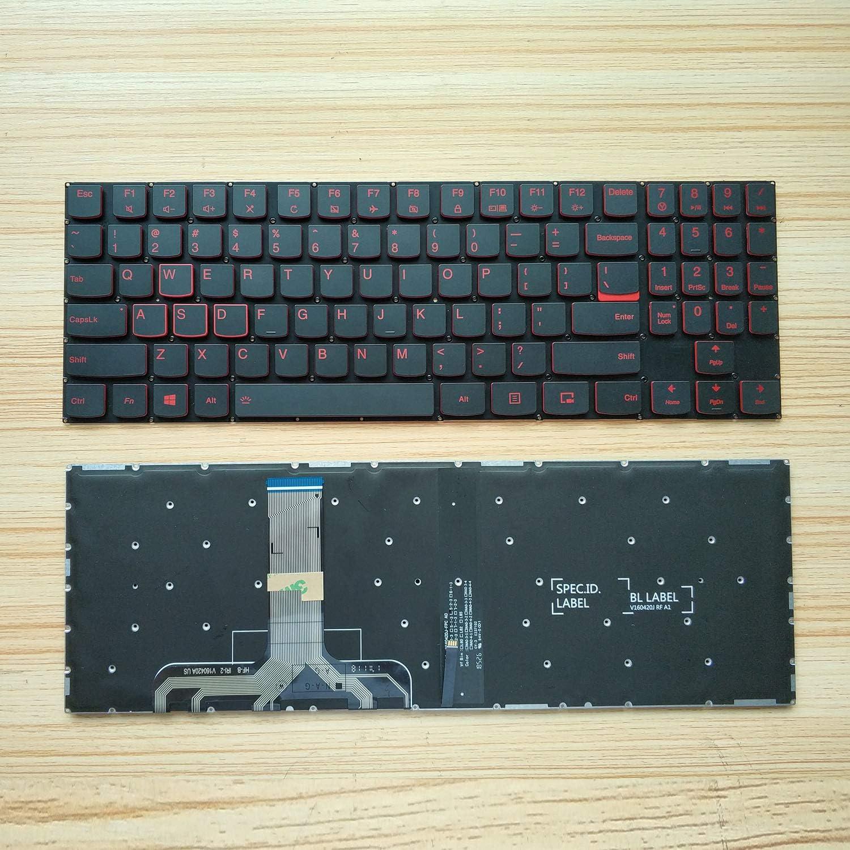 Keyboard go go go Layout Notebook Keyboard for Lenovo Legion Y520 Y520-15IKB Y720 Y720-15IKB Series red Font, Frameless, with Backlight Y520