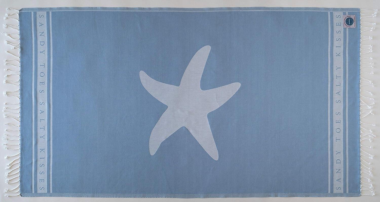 Sandy Toes Beach Sheet Hamman Towel Large Starfish SeaKisses