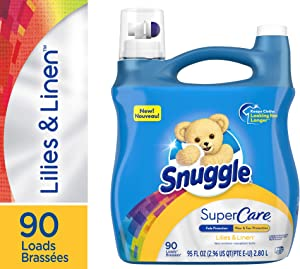 Snuggle SuperCare Liquid Fabric Softener, Lilies and Linen, 95 Ounce, 90 Loads