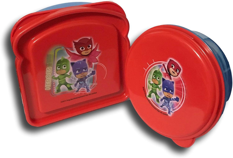 PJ máscaras azul y rojo Sandwich y recipiente para alimentos Lunch Box Kit