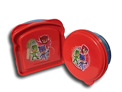 PJ Masks Blue and Red Sandwich and Snack Container Lunch Box Kit