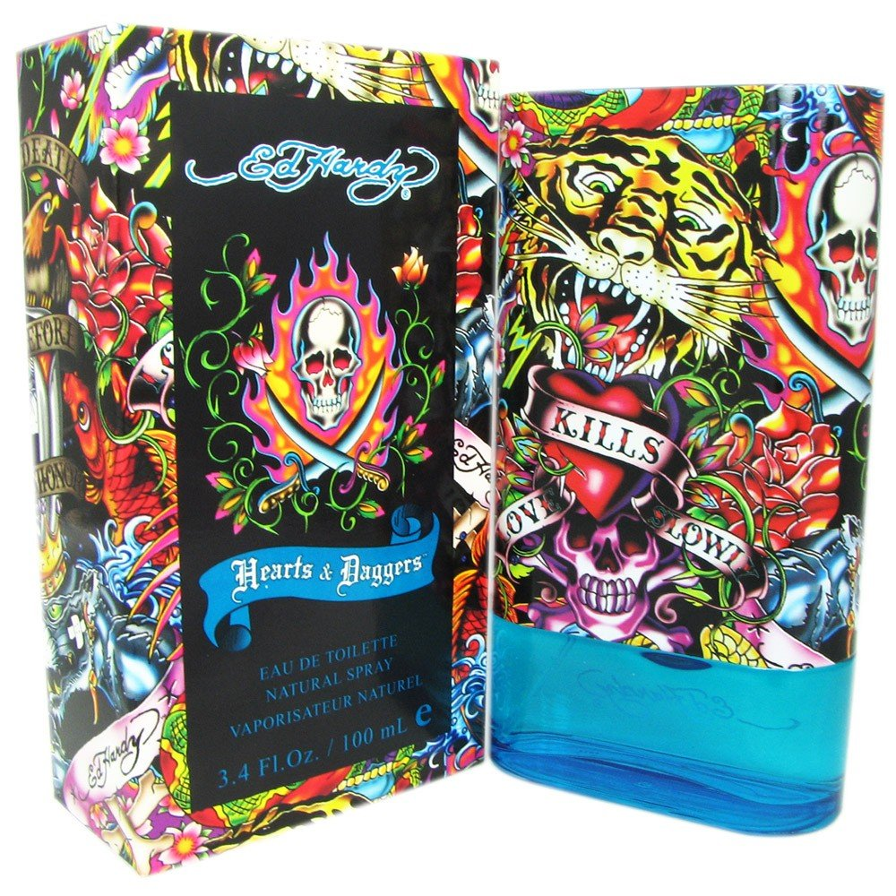 Ed Hardy Hearts & Daggers for Men 3.4 oz EDT Spray by Christian Audigier