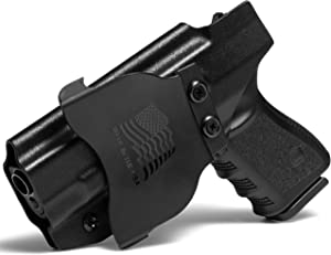 Concealment Express OWB Paddle KYDEX Holster (Black) - Outside Waistband - Adjustable Cant & Posi-Click Retention - 100% US Made
