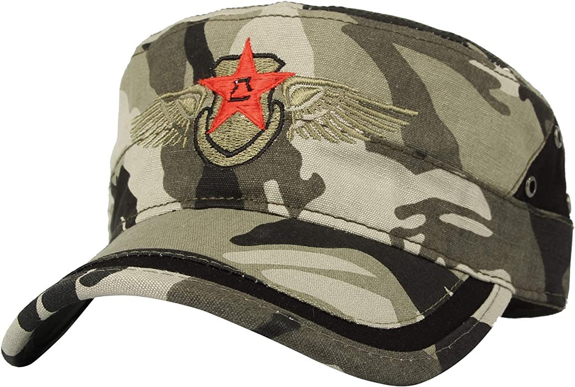 WITHMOONS US Estilo del ejército Gorras de béisbol Camuflaje Cadet ...