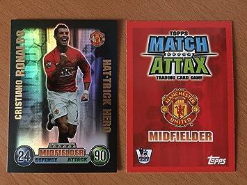 d08617f7563 Match Attax Extra 2007/2008 07-08 Cristiano Ronaldo Hat-Trick Hero Card