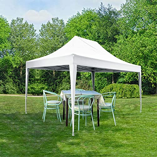 Quictent 10x15 Easy Pop up Canopy Tent Instant Canopy Shelter with Sides Waterproof White
