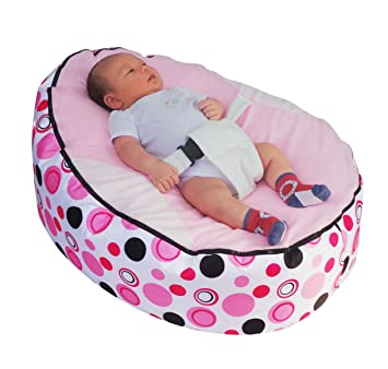 Baby Bean Bag snuggle bed bouncer with Safety Harness & 2 Removable