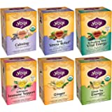 Yogi Tea Office Favorites 6 Flavor Variety Pack (Pack of 6)