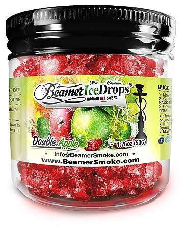 Double Apple 50G Ultra Premium Beamer Ice Drops Hookah Shisha Smoking Gel. Each bowl lasts
