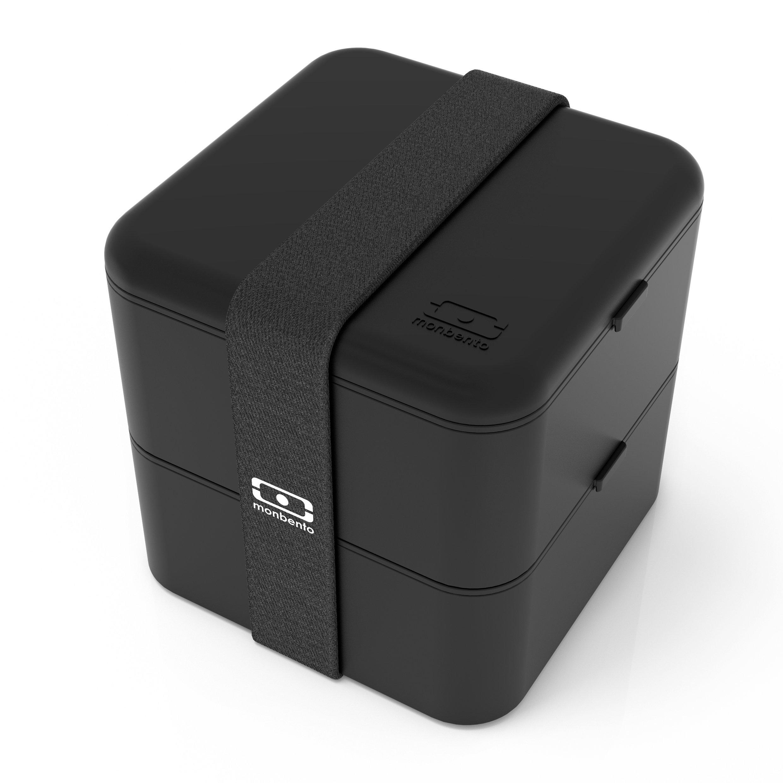 monbento MB Square Box - The Bento Box - Travel Lunch Box - Black by monbento