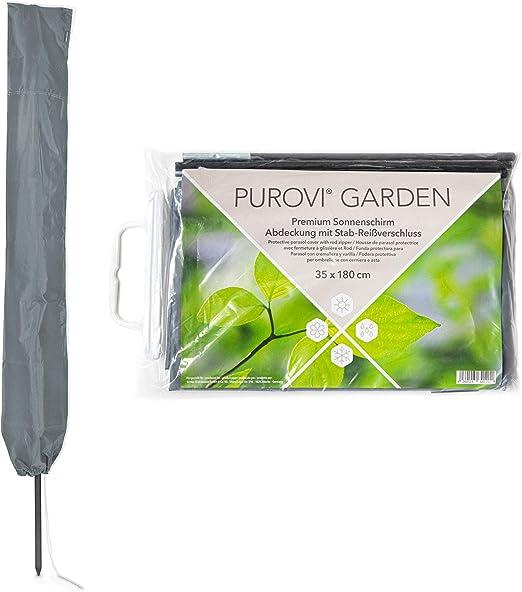 Inclusa Asta per Chiusura Lampo Purovi Copertura Impermeabile Premium per ombrelloni Tessuto Oxford 420D Poliestere Resistente ai Raggi UV e maltempo per ombrelloni /Ø Fino a 300 cm