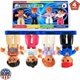 Magnetic Figures Set of 4–Toddlers Community Action Toy People, Magnetic Tiles Expansion Pack for Boys and Girls – Educational STEM Toys Add on Sets Pilot, Teacher, Lawyer, Coach Set