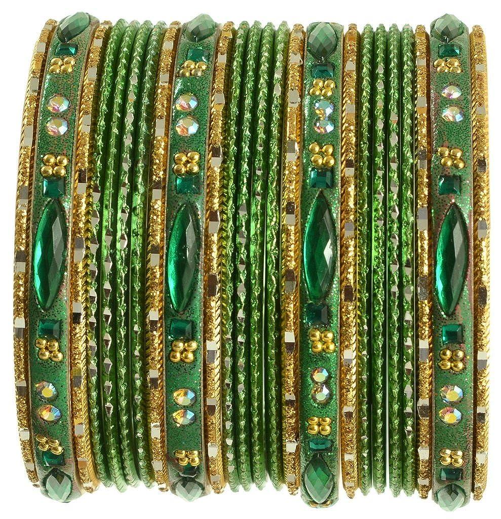 Indian Bangles Set Ethnic Traditional Bracelets Bollywood Bridal Churi 2.8 Green
