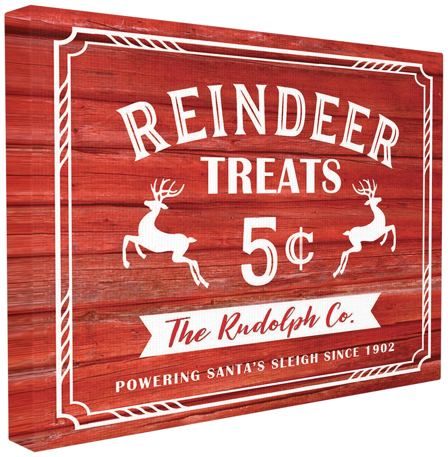 Stupell Industries Reindeer Treats Vintage Sign XXL...