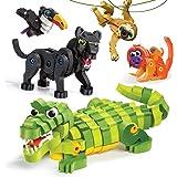 Bloco Toys Tropical Rainforest Animals   STEM Toy   Panther, Caiman, Sloth, Tamarin & Toucan   DIY Educational Building…